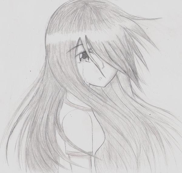 Drawn sad anime Kisa903 Sad anime on by