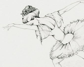 Drawn amd ballerina Art Sketch Drawing Ballerina a