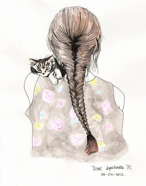 Drawn braid fishtail braid On drawing 131 braid Drawn