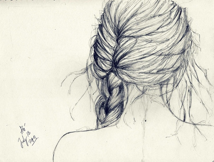Drawn braid pencil drawing Pinterest best Hair images 152