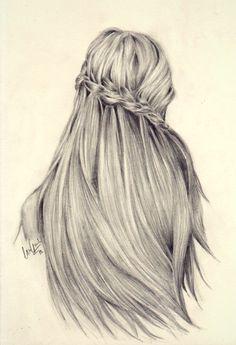 Drawn braid straight hair Tumblr Cabello Drawings a draw