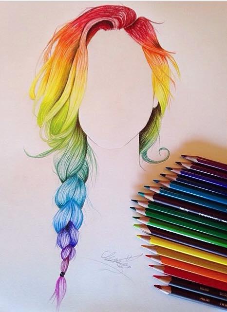 Drawn rainbow faded #rainbow #rainbow color drawing fun