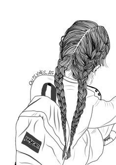Drawn braid hipster Pinterest través tumblr Girl corazón