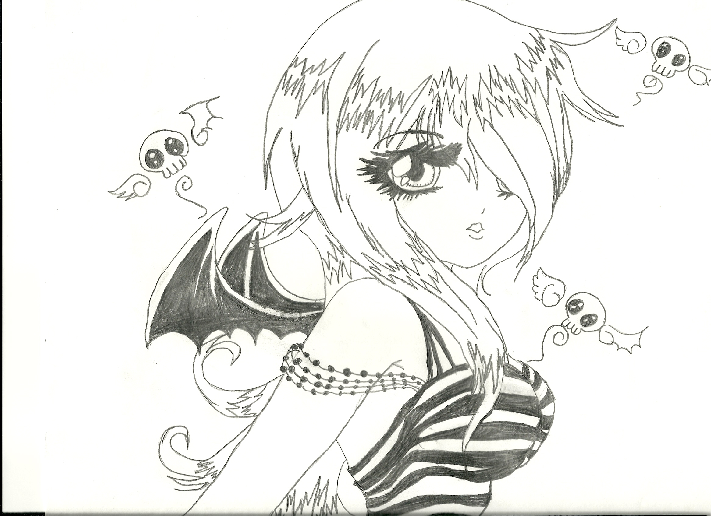 Drawn ninja demon Girl How Drawing Guide Draw
