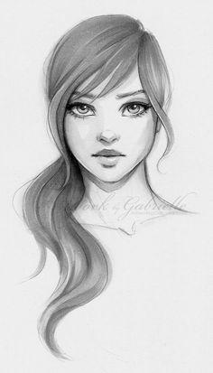 Drawn dall woman hairstyle #3