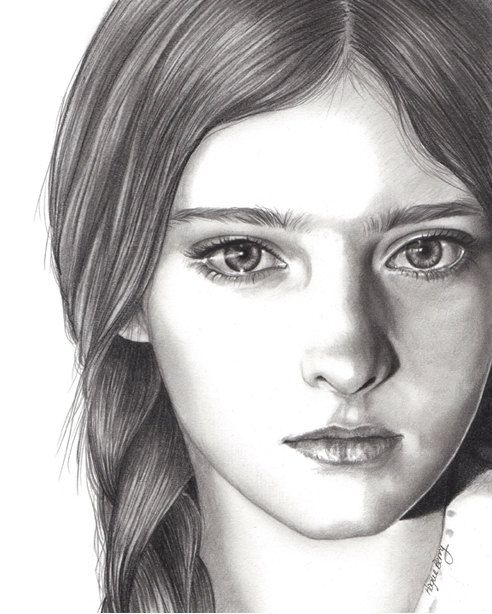 Drawn portrait simple Pencil Willow Willow Primrose Everdeen