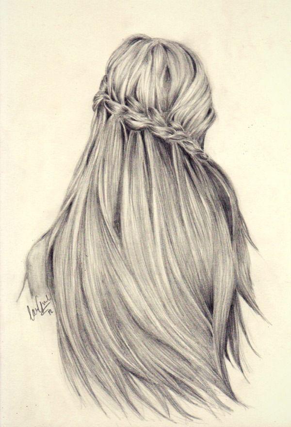 Drawn braid female hair The ideas de hair Pinterest