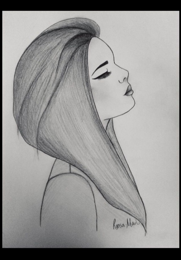 Drawn sad sad woman Drawing Girl to by