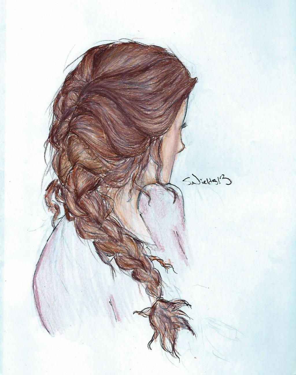 Drawn braid braid hairstyle French Braid Pinterest Google French