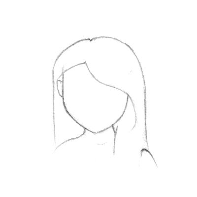 Drawn hair simple #3