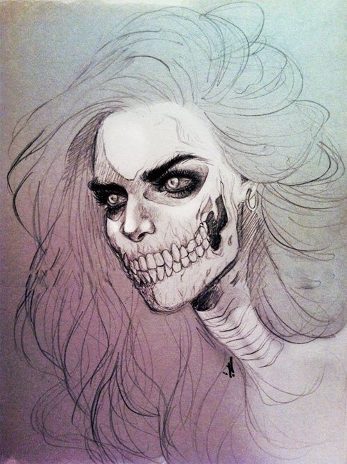 Drawn skeleton real 25+ tattoo skull The on