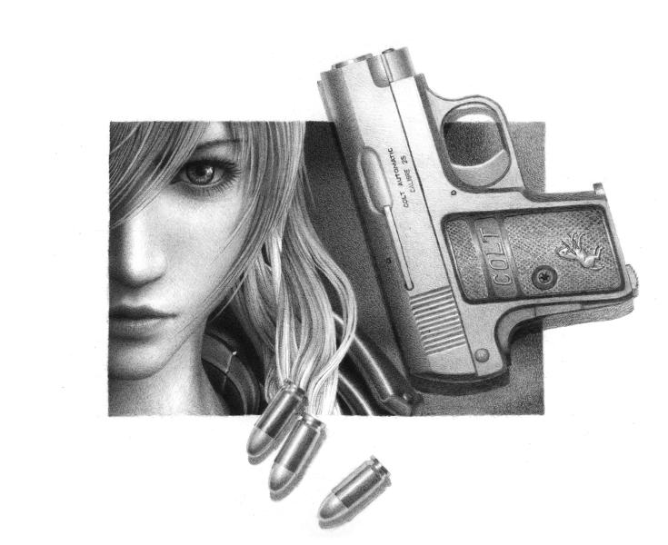 Drawn gun pencil  Girl Jason Pau Portfolio