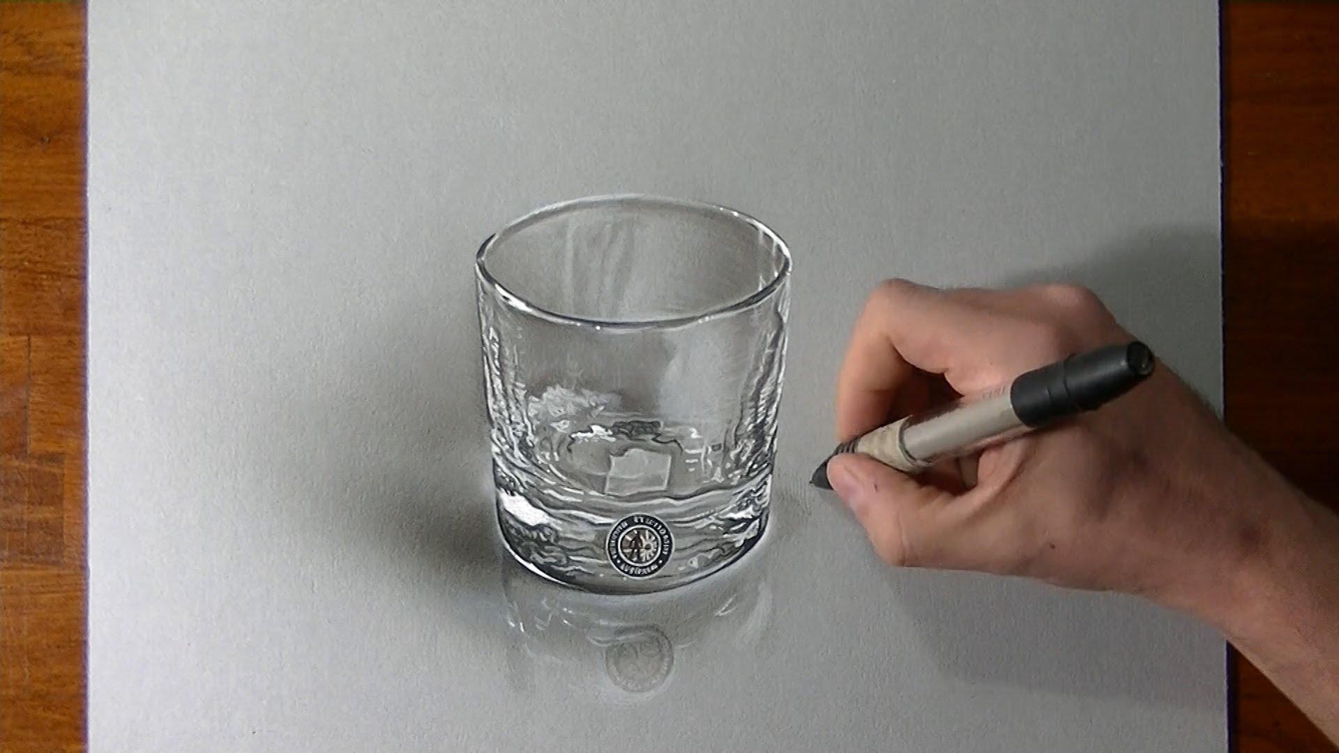 Drawn glass 3D (+playlist) glass a Hyperrealistic