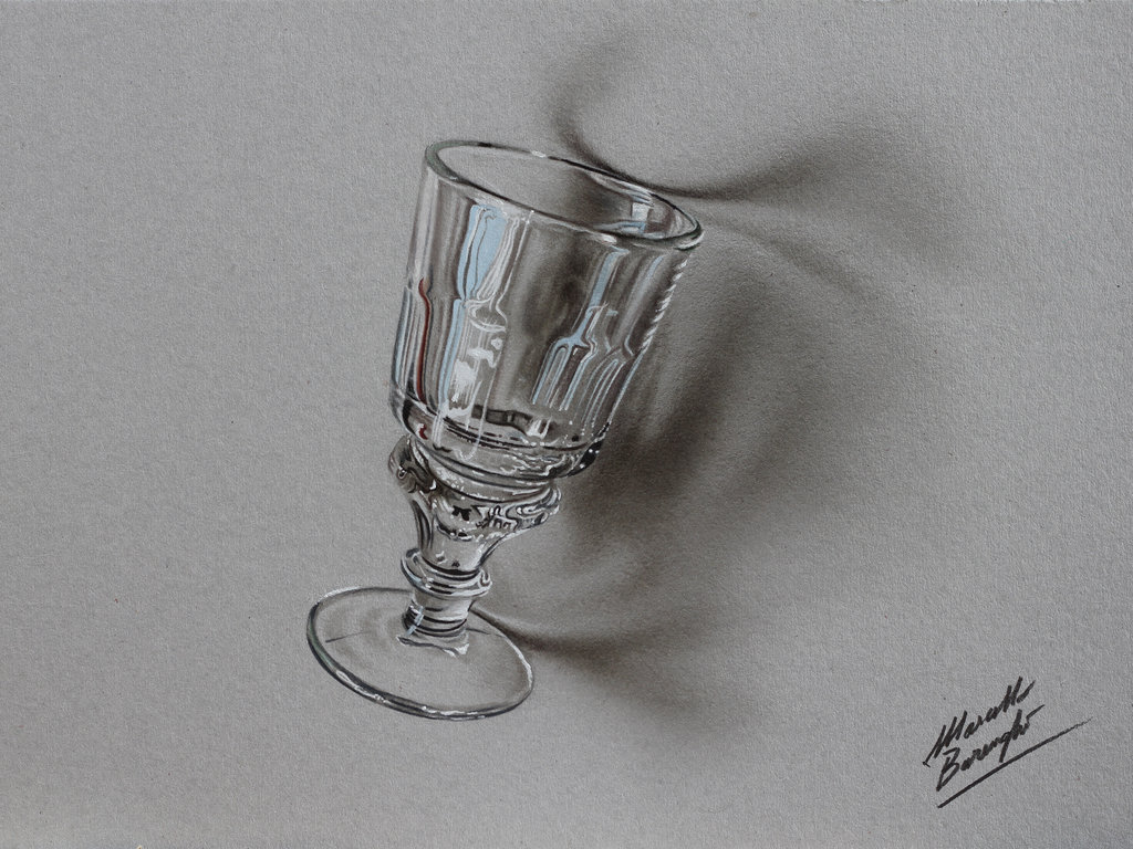 Drawn glass Image Drawing Pencil Realistic Glass