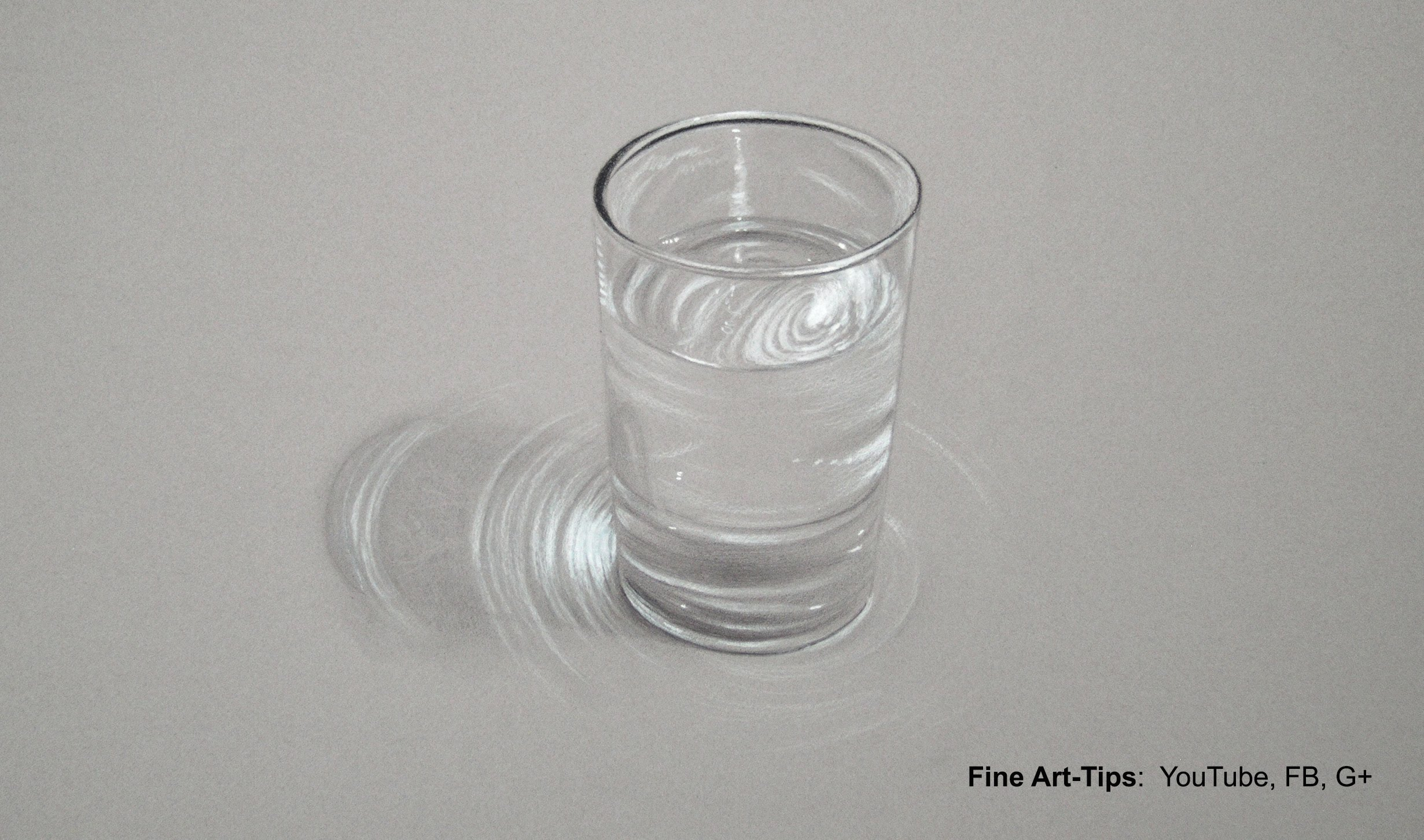 Drawn amd glass Hyperrealistic to Water How of