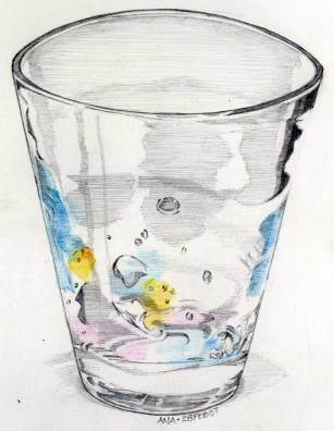 Drawn glass With the store Lemons: for