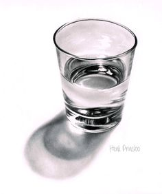 Drawn glasses realistic Realistic drawing a glass tutorial