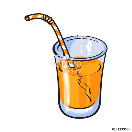 Drawn glasses glass juice Vector Realistic drawn with style