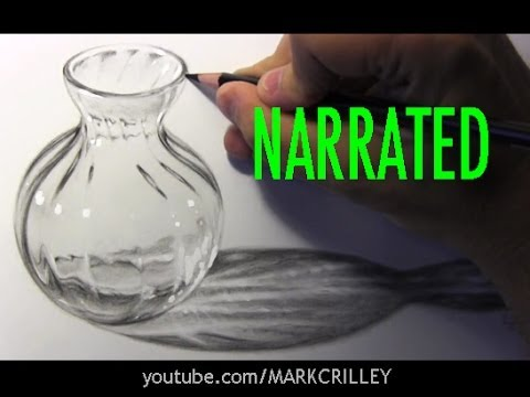 Drawn glass glass vase Glass Step] [Narrated How Glass
