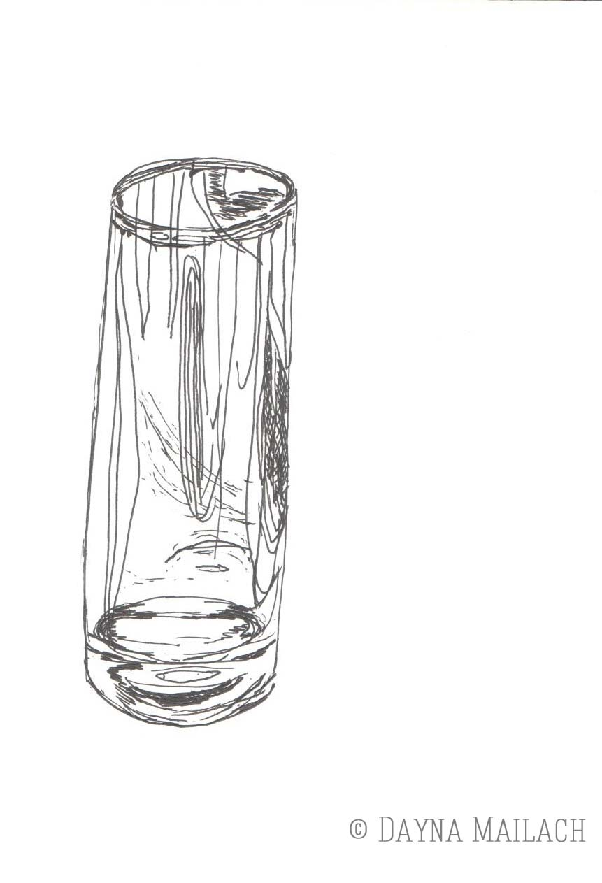 Drawn glass glass vase Vase) I (Cup/Occasional Surrealistic Glass