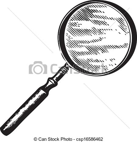 Drawn glass magnifying glass Vector glass Magnifying csp16586462 a