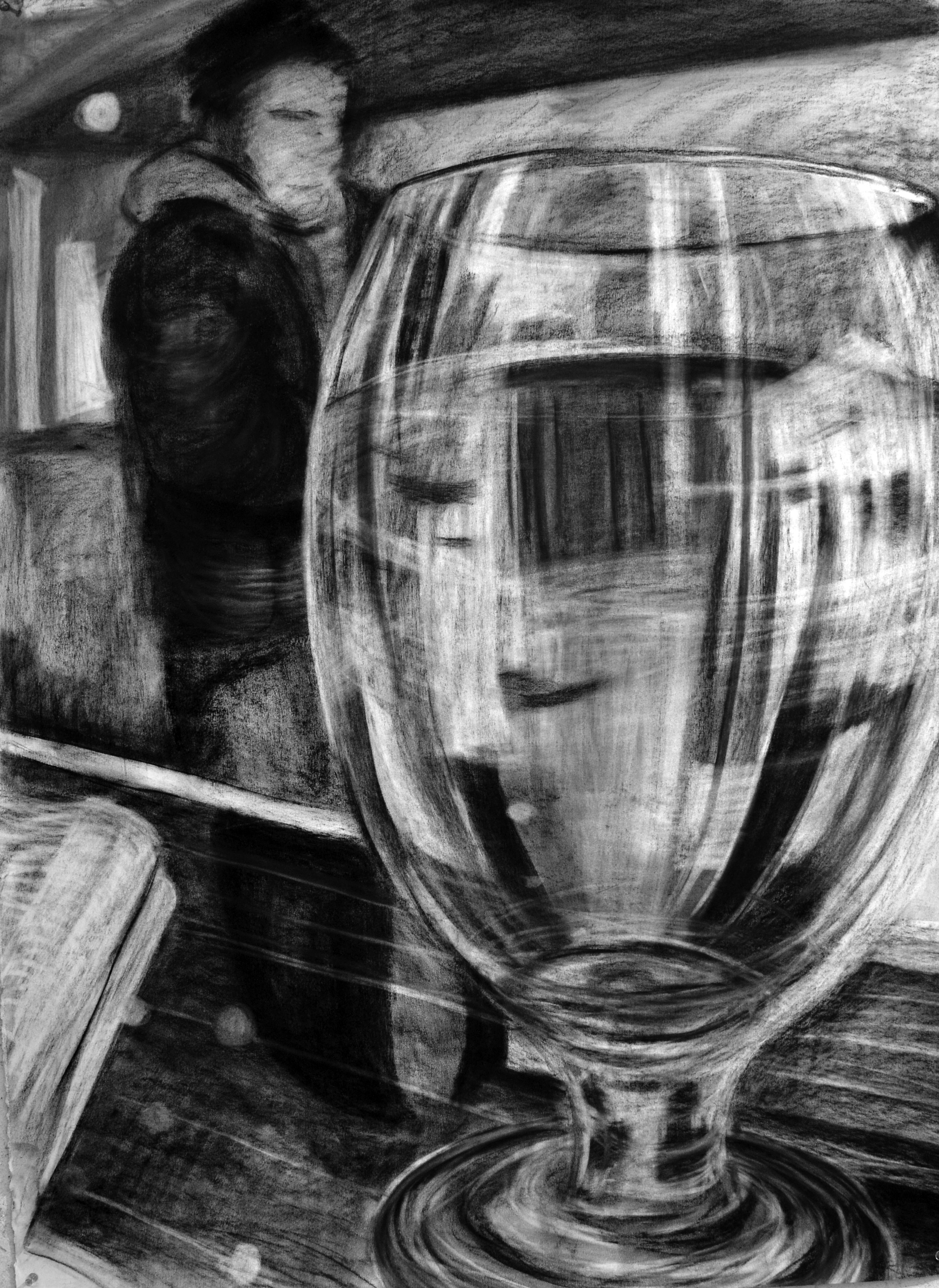 Drawn glass mirror reflection Observed but a based And
