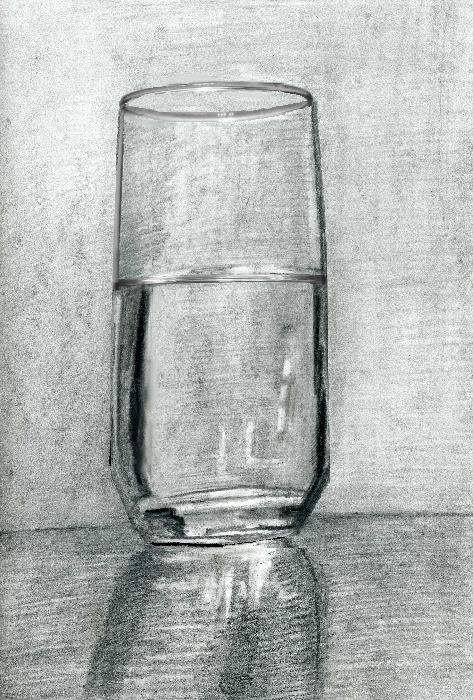 Drawn glasses pencil drawing This of Charcoal Glass Tips