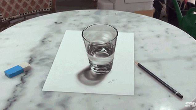 Drawn glasses realistic Is of drawing water realistic