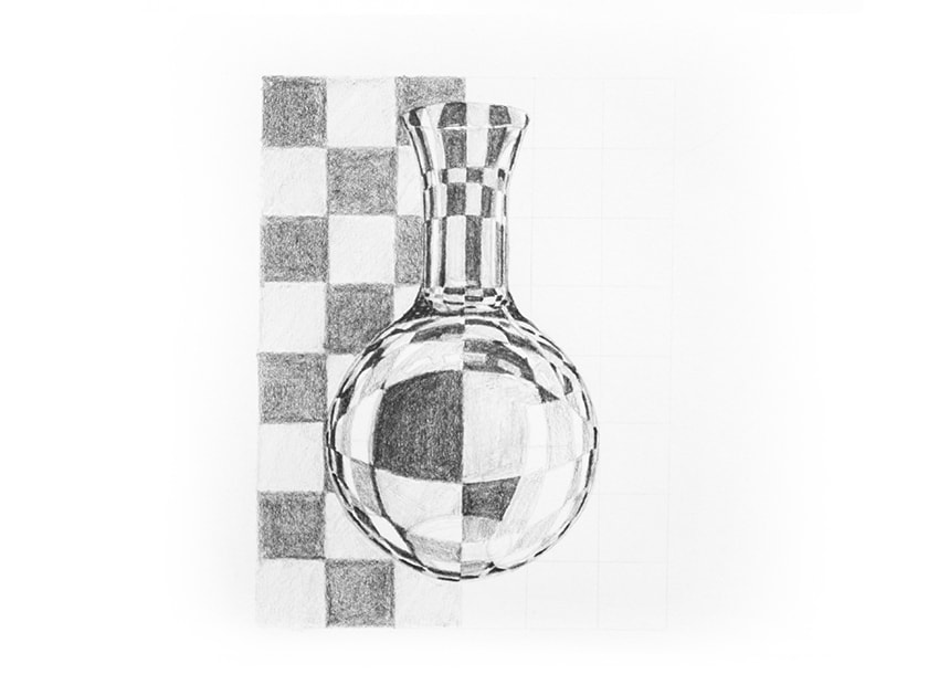 Drawn glass rectangular Glass pencils draw Glass to