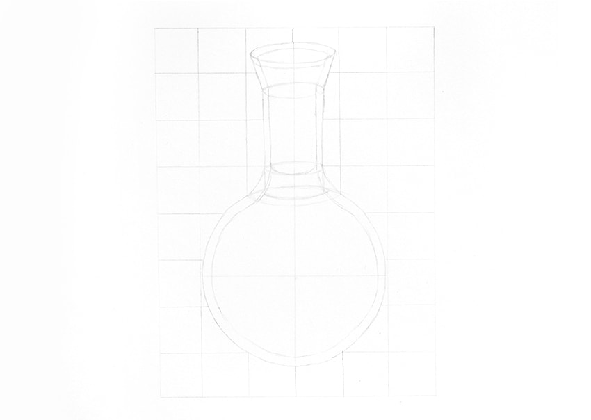 Drawn glass rectangular A to draw to Glass