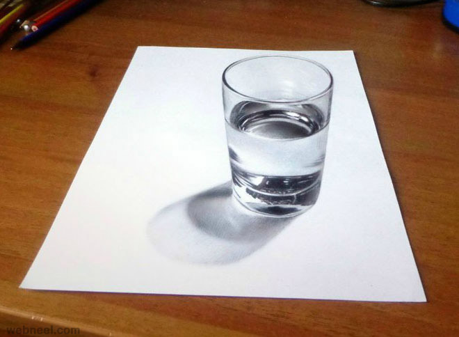 Drawn glass scenery #8