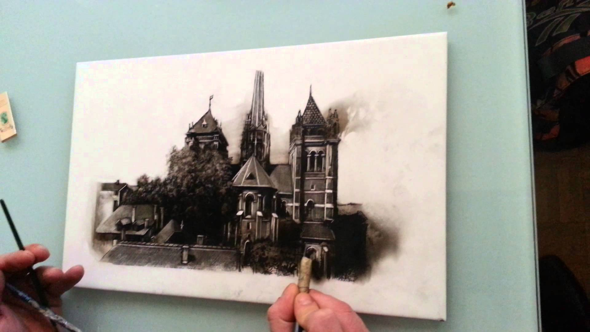 Drawn glass smoke YouTube Painting Painting Smoke Smoke