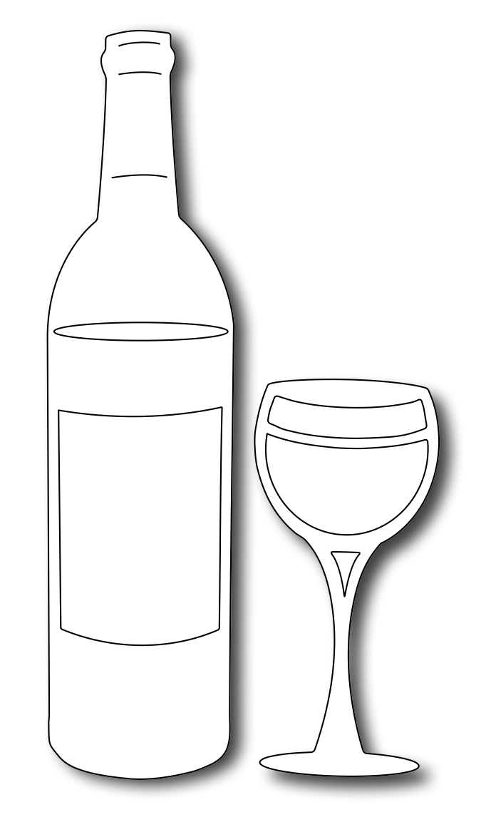 Drawn spectacles wine bottle Frantic the 2) (set pattern