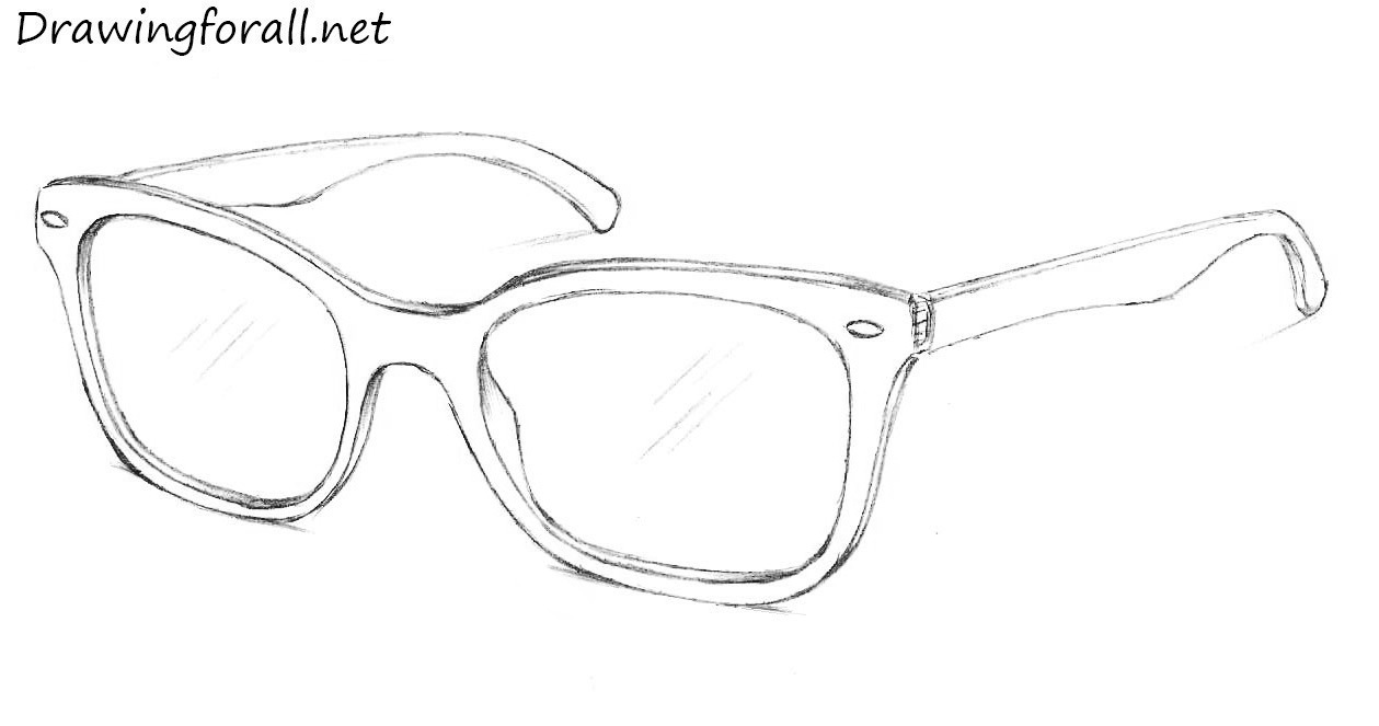 Drawn sunglasses Ray Glasses Draw How DrawingForAll