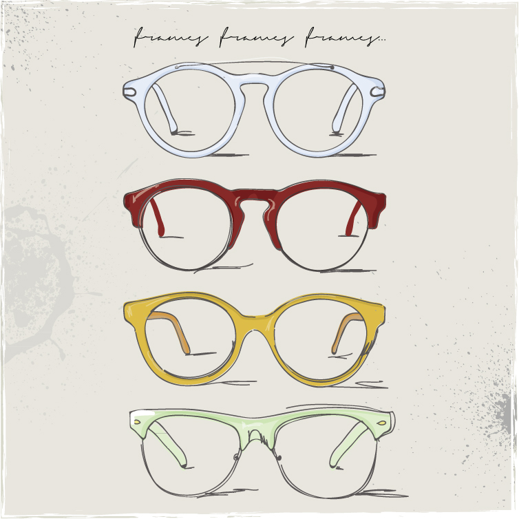 Drawn glasses Download Glasses Drawn Glasses Graphic