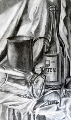 Drawn still life candy Of to Some wine their