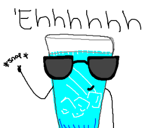 Drawn glasses party Water Cool Cool legitmermaid) (drawing