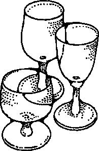 Drawn glasses drinking glass Wine Clip Clker clip vector