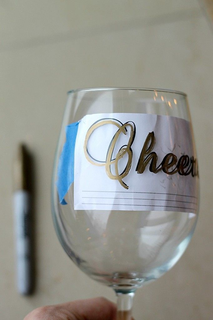 Drawn glasses drinking glass DIY idea for glasses holiday
