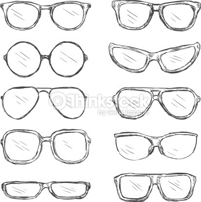 Spectacles clipart spects Sketch Eyeglass Frames Clear View