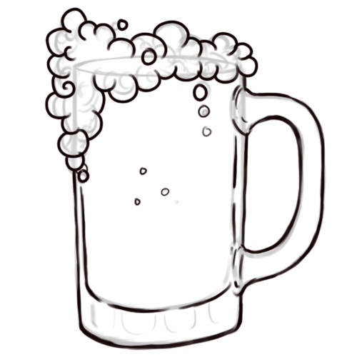 Drawn beer german beer How beer draw mug for