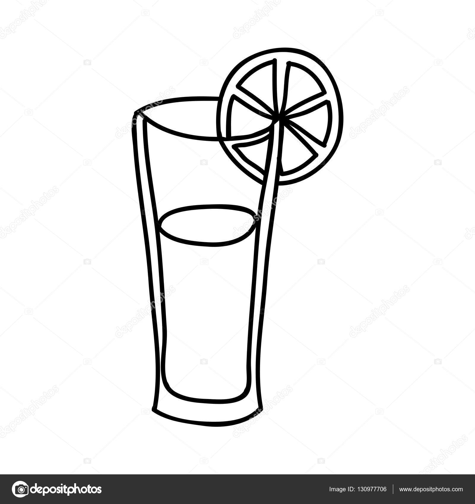 Drawn glasses glass juice — Fruit icon juice image