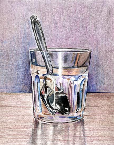 Drawn glasses glass object WetCanvas Glass Glass Class Pinterest