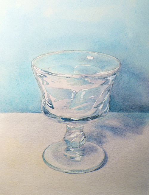 Drawn glasses glass object How to Paint Draw: transparent