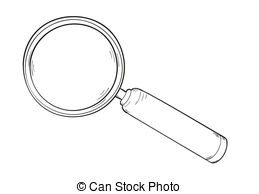 Drawn glasses magnifying glass Sketch of magnifying 51 Illustrations