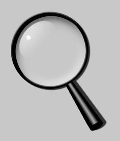 Drawn glasses magnifying glass A magnifying to Fake How