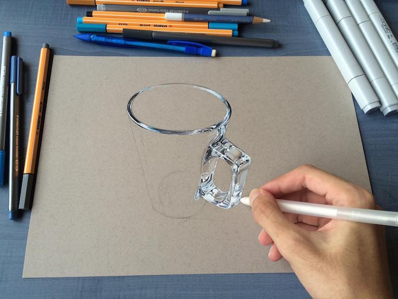 Drawn glasses realistic That 3D Real Art Old