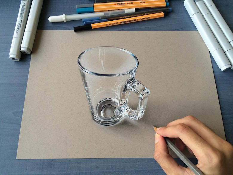 Drawn glasses realistic 3 Rane: Old Creates Glass