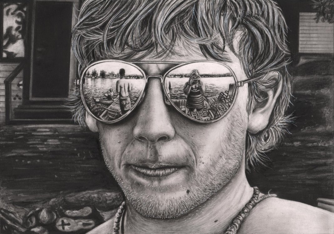 Drawn spectacles reflection Drawing 15129poster sunglasses reflection drawing