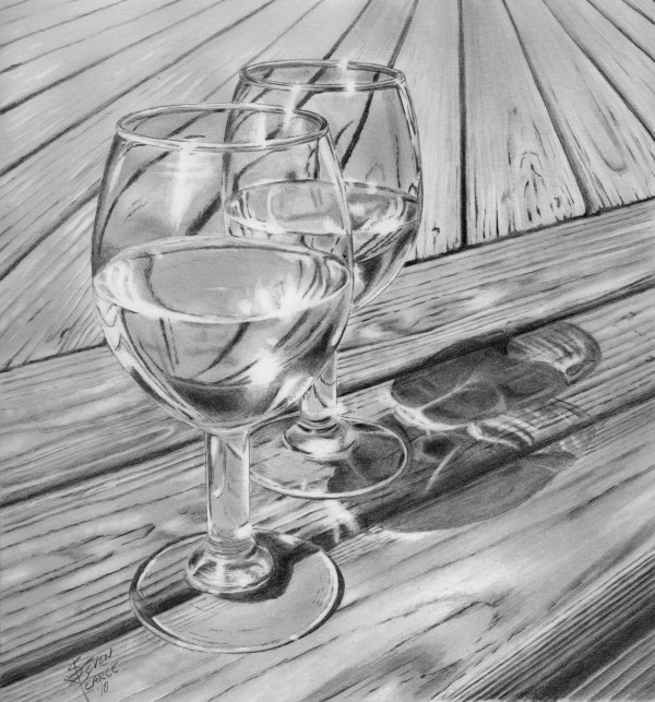 Drawn glasses scenery Pin this more title on